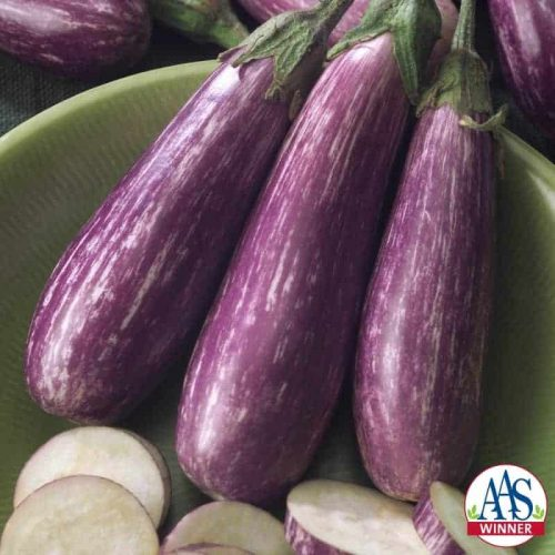 Eggplant Fairy Tale F1 - 2005 AAS Edible - Vegetable Winner - Fairy Tale is a petite plant with decorative miniature eggplants.