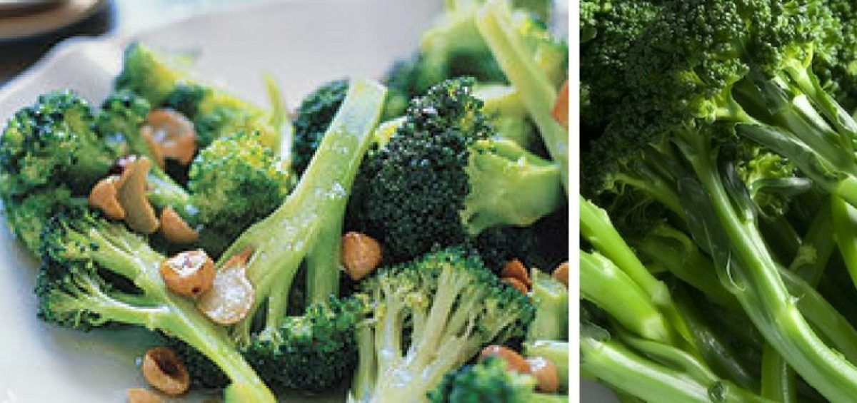 Broccoli With Toasted Garlic and Hazelnuts