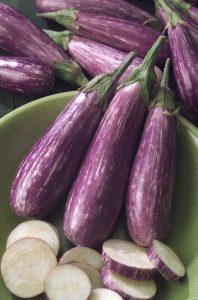 Eggplant Fairy Tale F1 - 2005 AAS Edible - Vegetable Winner - Fairy Tale is a petite plant with decorative miniature eggplants.