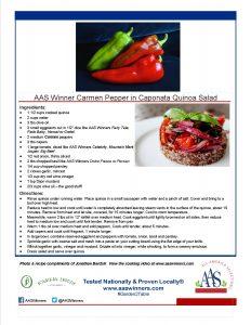 AAS Winner Carmen Pepper in Caponata Quinoa Salad