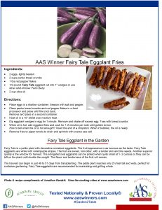 AAS Winner Fairy Tale Eggplant Fries