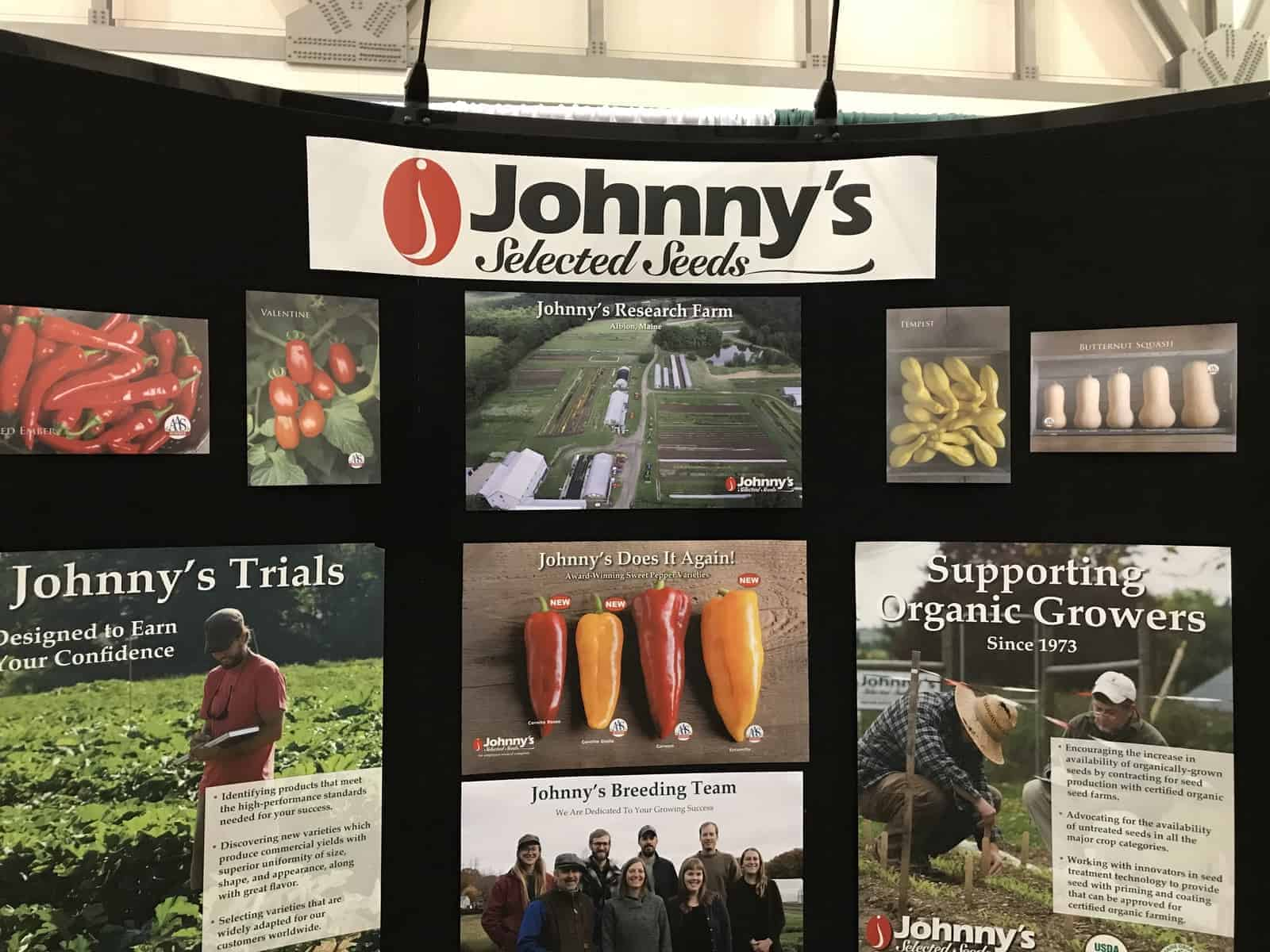 Johnny's Selected Seeds displays their AAS Winners at the Great Lake Grower Expo