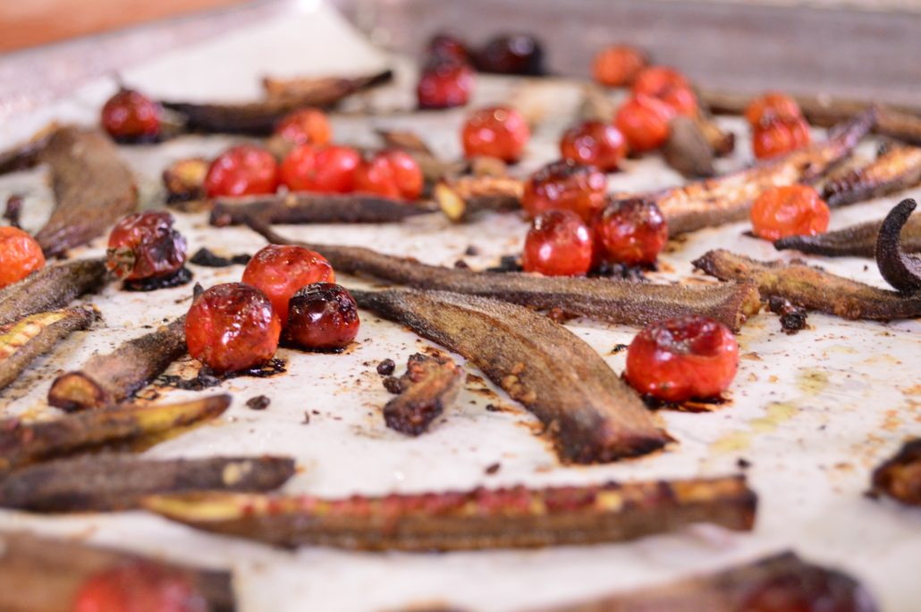 Roasted Okra and Tomatoes Recipe using AAS Winners