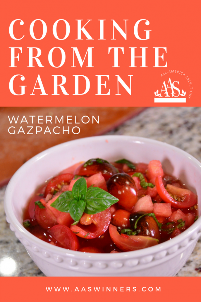 Watermelon gazpacho using AAS Winners