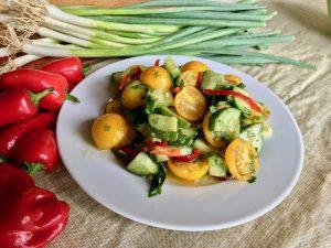 Spicy Patio Choice tomato salad using AAS Winners