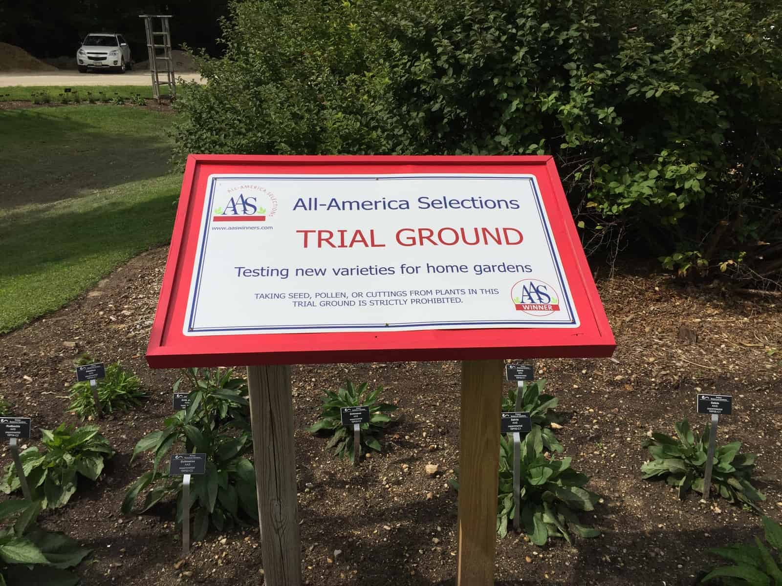 Trial Ground sign at Rotary Botanical Garden