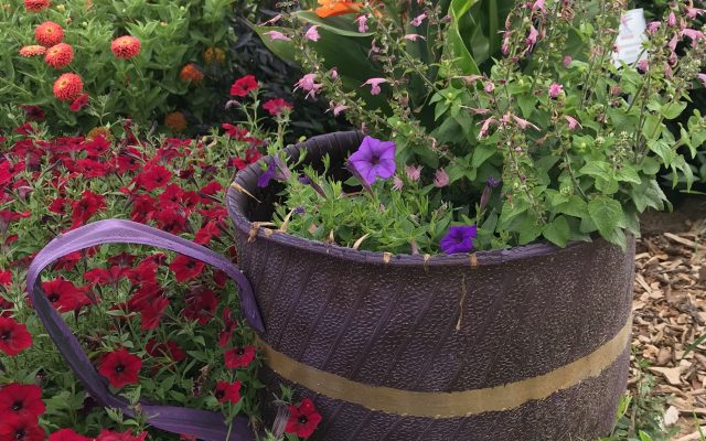 "Honorable Mention, ""Tea Social Theme"": River Valley Extension District Master Gardeners, Belleville, Kansas"
