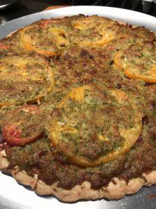 Tomato, Bacon & Pesto Tart