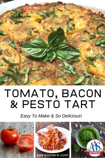 Easy and Delicious Recipe for Tomato, Bacon & Pesto Tart for a delicious summer flavor! - All-America Selections