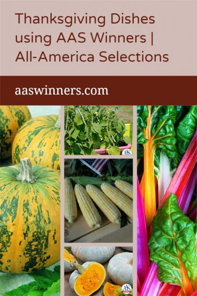 Thanksgiving Dishes Using AAS Winners