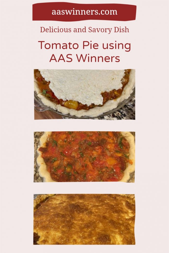 Tomato Pie Recipe Using AAS Winner   All-America Selections